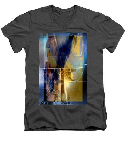 Double Structure Men's V-Neck T-Shirt