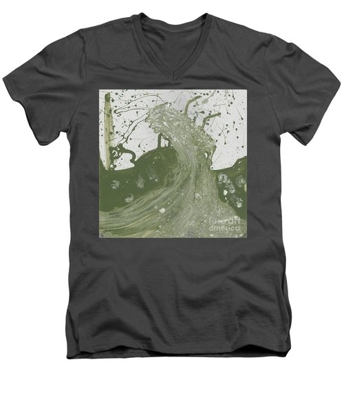 Double Up Wave Men's V-Neck T-Shirt by Talisa Hartley