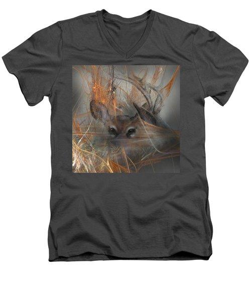 Double Vision - Look Close Men's V-Neck T-Shirt