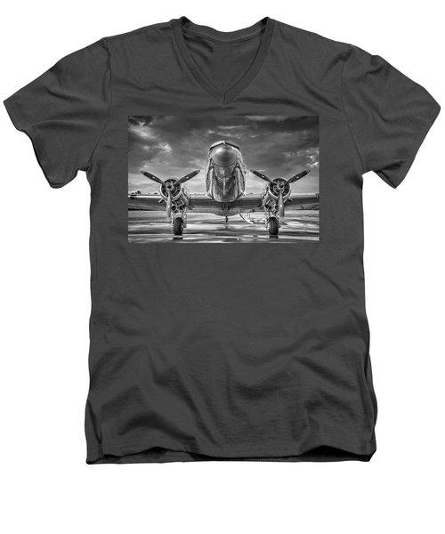 Douglas Dc3 Men's V-Neck T-Shirt