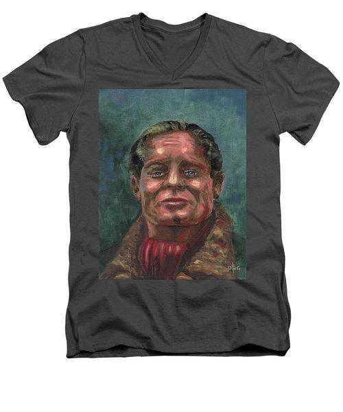 Douglass Bader Men's V-Neck T-Shirt