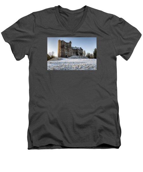 Doune Castle In Central Scotland Men's V-Neck T-Shirt