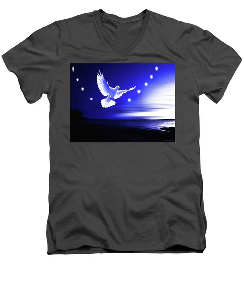 Dove Delight Men's V-Neck T-Shirt