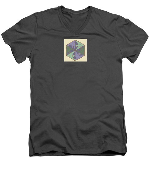 Doves Logo Color Men's V-Neck T-Shirt
