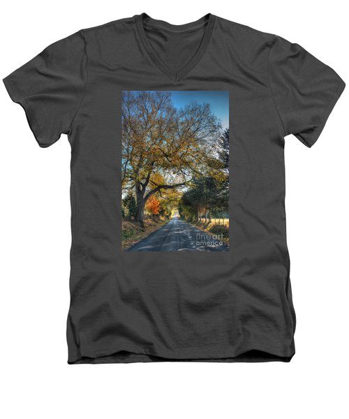 Down A Berger Lane Men's V-Neck T-Shirt by William Fields