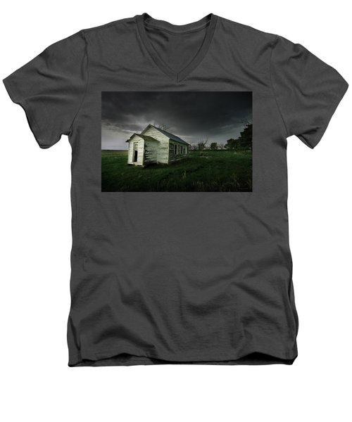 Down At The Schoolyard Men's V-Neck T-Shirt
