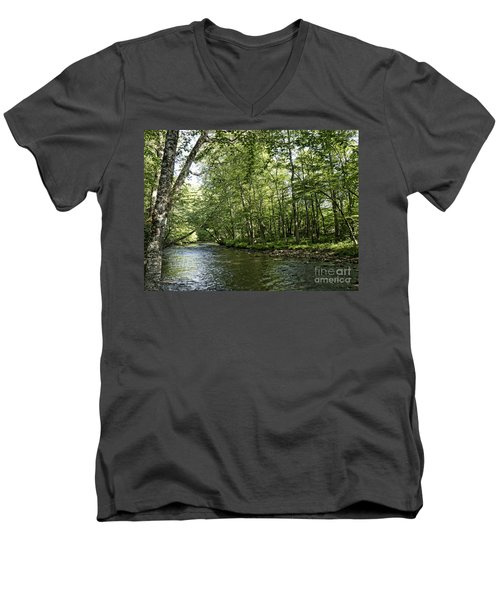 Down Beside Where The Waters Flow Men's V-Neck T-Shirt