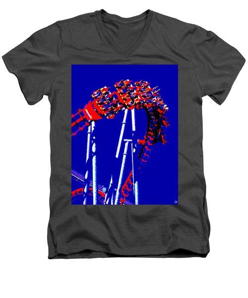 Down Side Up Men's V-Neck T-Shirt
