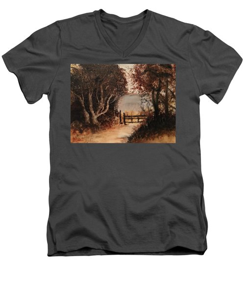 Down The Path Men's V-Neck T-Shirt