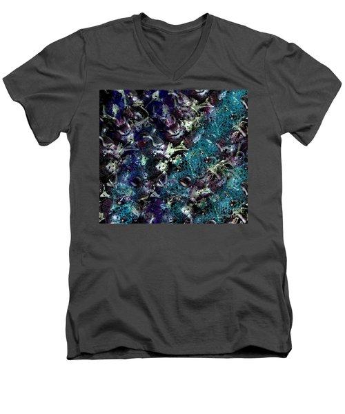 Down The Rabbit Hole Men's V-Neck T-Shirt by Kathie Chicoine