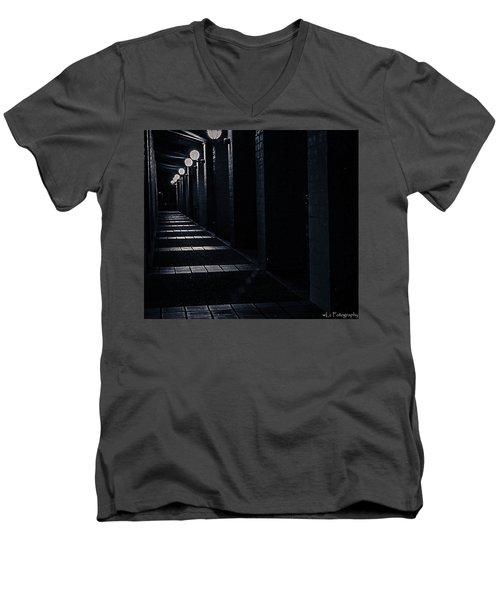 Down The Walkway Men's V-Neck T-Shirt