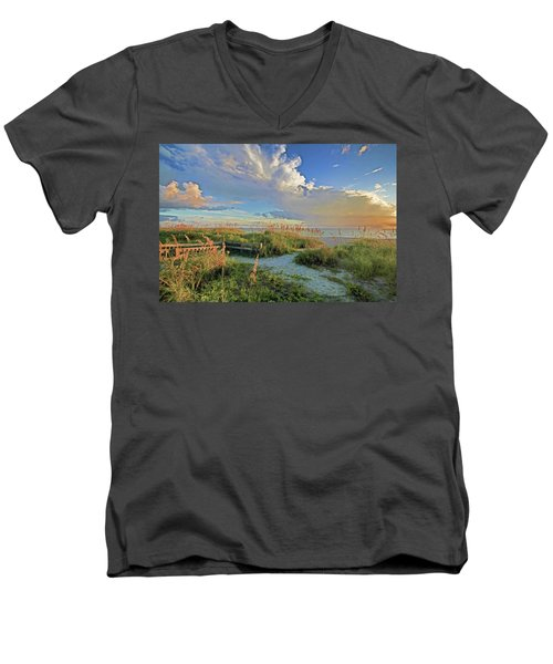 Down To The Beach 2 - Florida Beaches Men's V-Neck T-Shirt