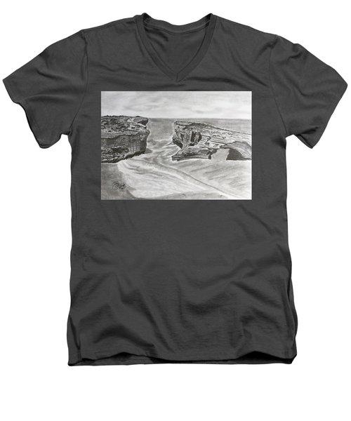 Down Under  Men's V-Neck T-Shirt by Tony Clark