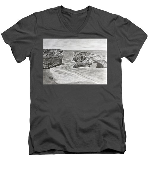 Down Under  Men's V-Neck T-Shirt