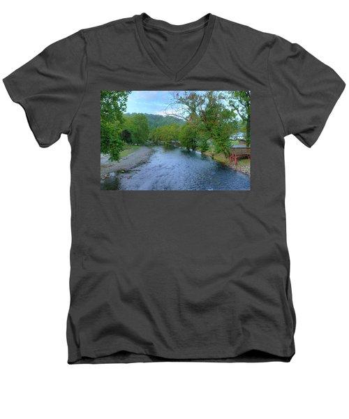 Downstream Men's V-Neck T-Shirt