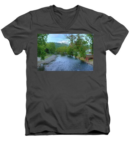 Downstream Men's V-Neck T-Shirt