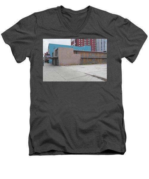 Downtown Before Men's V-Neck T-Shirt