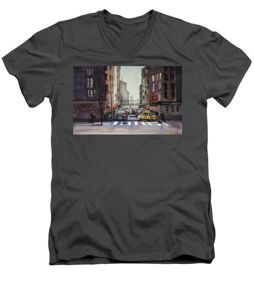 Downtown Chicago Men's V-Neck T-Shirt