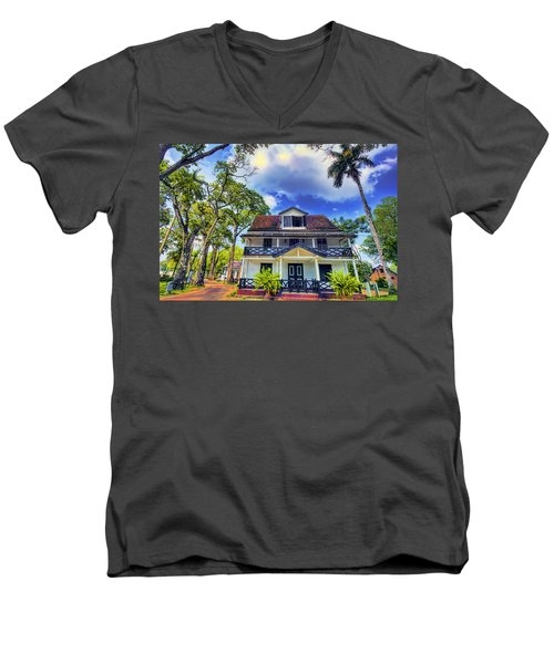 Downtown In The Tropics Men's V-Neck T-Shirt