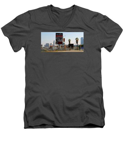 @downtown Los Angeles Men's V-Neck T-Shirt