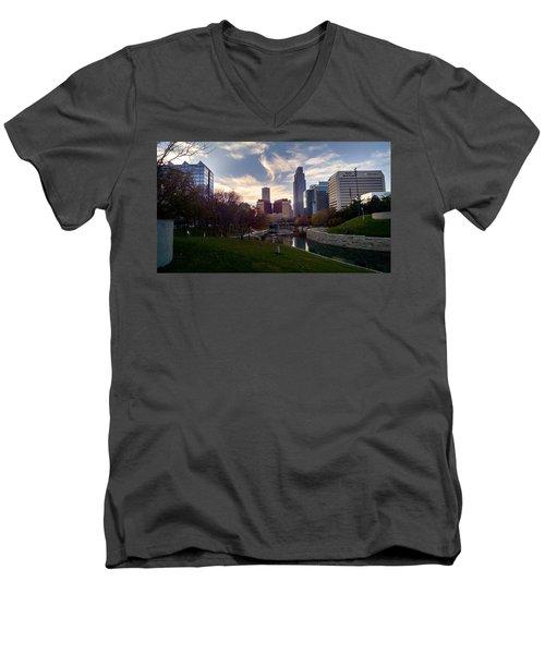 Downtown Omaha Men's V-Neck T-Shirt