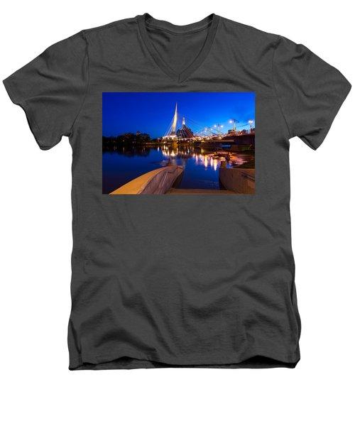 Downtown Winnipeg Men's V-Neck T-Shirt