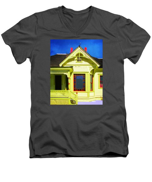 Dr. Clark's House 2 Men's V-Neck T-Shirt by Timothy Bulone