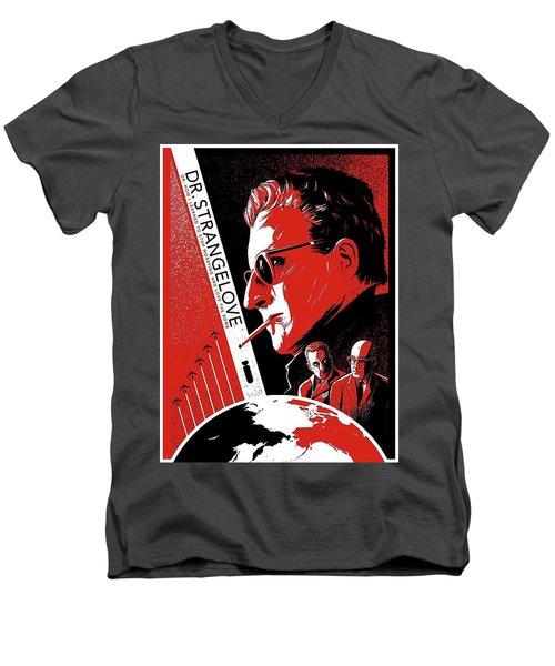 Dr. Strangelove Theatrical Poster Number Three 1964 Men's V-Neck T-Shirt