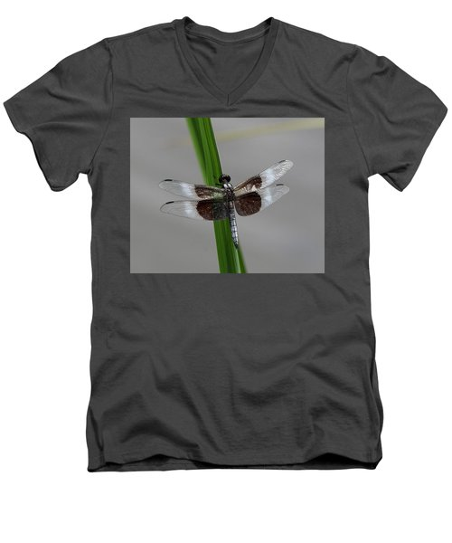 Dragon Fly Men's V-Neck T-Shirt by Jerry Battle