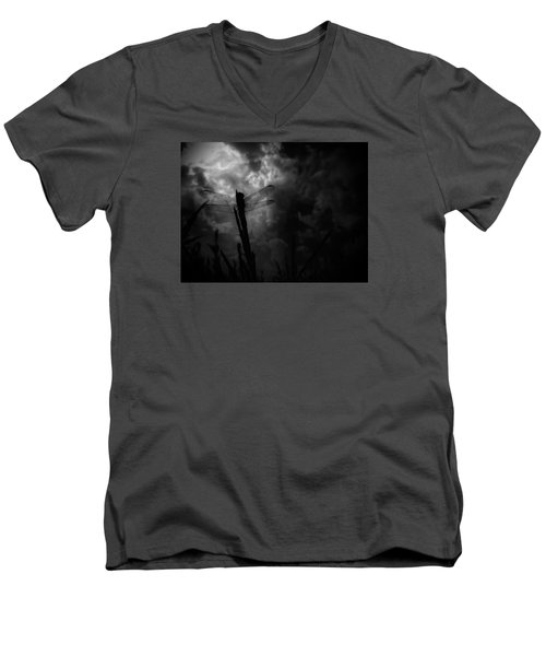 Dragon Noir Men's V-Neck T-Shirt by Tim Good