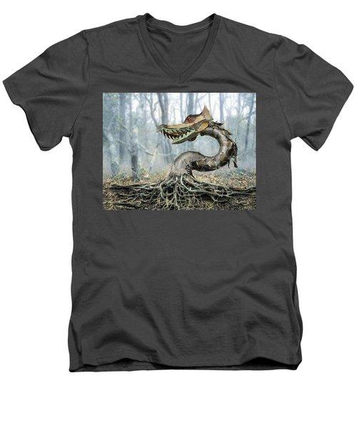 Dragon Root Men's V-Neck T-Shirt