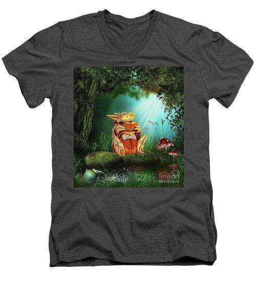 Dragon Tales Men's V-Neck T-Shirt