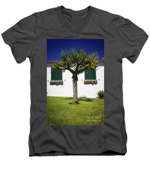 Dragon Tree Garden House Men's V-Neck T-Shirt
