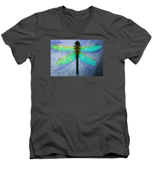 Dragonfly 5 Men's V-Neck T-Shirt by Timothy Bulone
