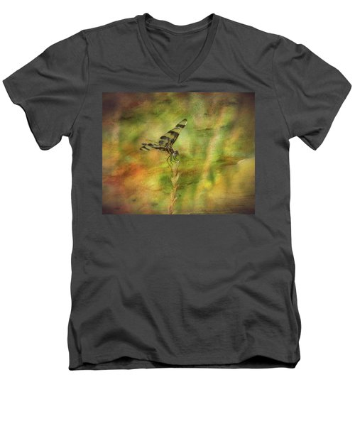 Dragonfly Art Men's V-Neck T-Shirt