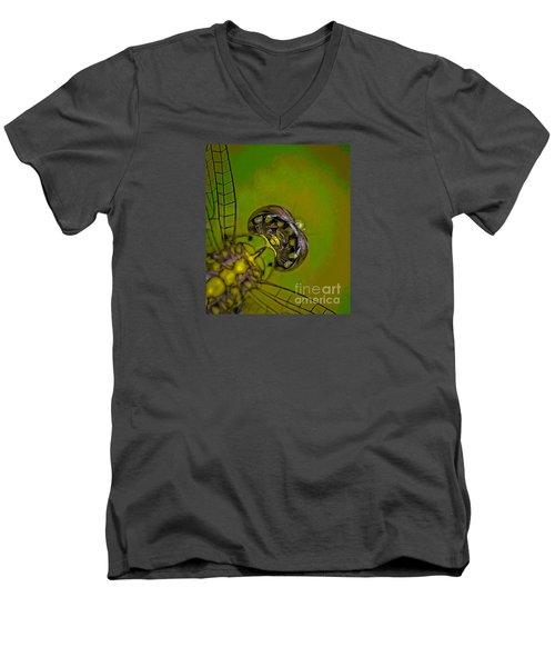 Dragonfly Detail Men's V-Neck T-Shirt by Kim Henderson