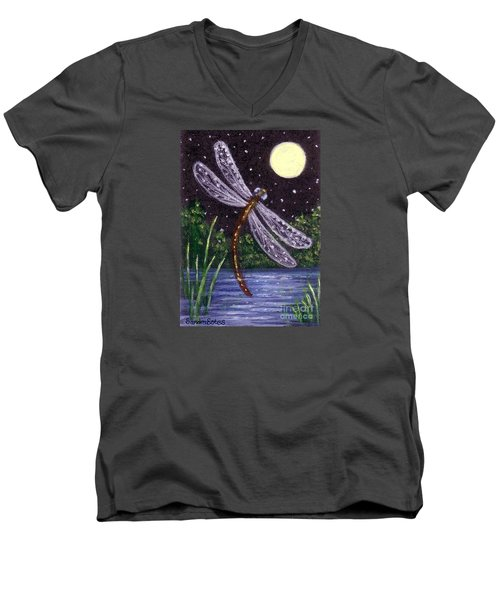 Dragonfly Dreaming Men's V-Neck T-Shirt by Sandra Estes