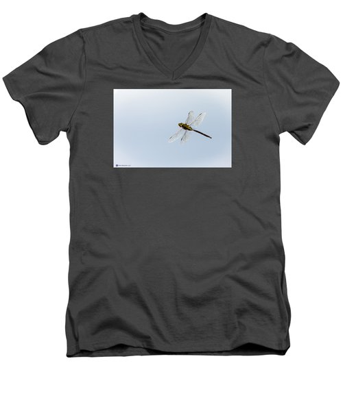 Dragonfly In Flight Men's V-Neck T-Shirt by Teresa Blanton
