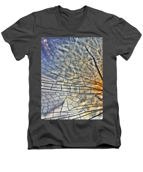 Dragonfly Wing Men's V-Neck T-Shirt