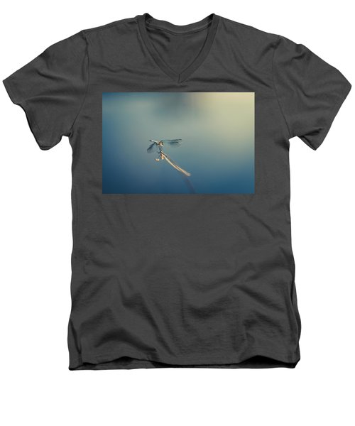 Men's V-Neck T-Shirt featuring the photograph Dragonlady by Shane Holsclaw