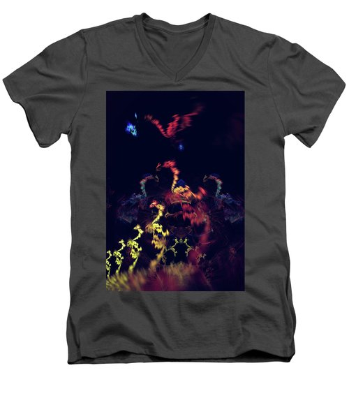 Dragons - Abstract Fantasy Art Men's V-Neck T-Shirt
