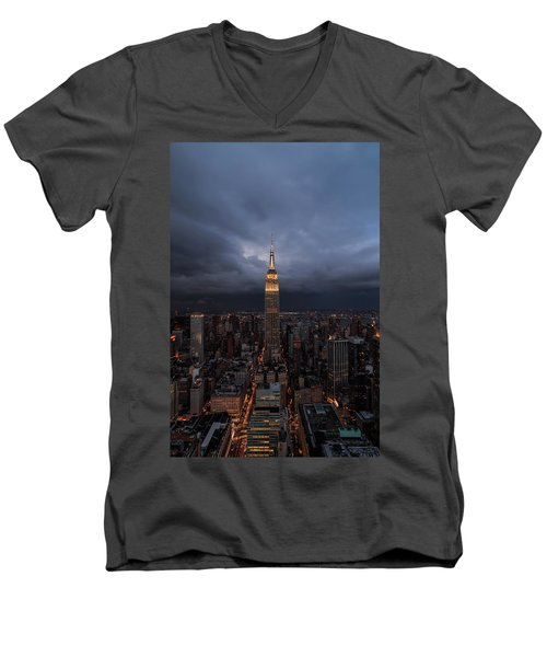 Drama In The City  Men's V-Neck T-Shirt