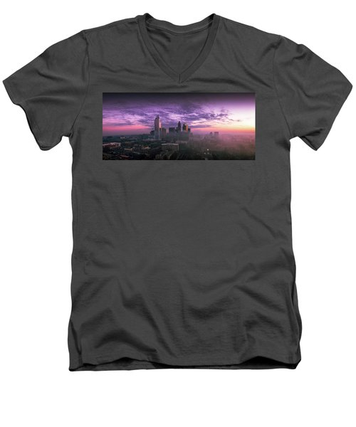 Dramatic Charlotte Sunrise Men's V-Neck T-Shirt