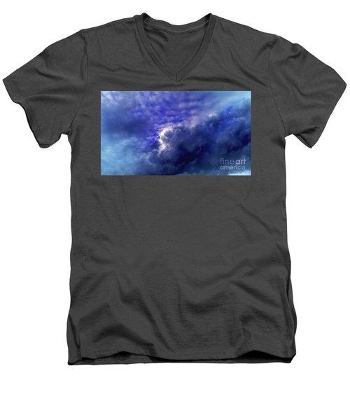 Dramatic Cumulus Sky Men's V-Neck T-Shirt