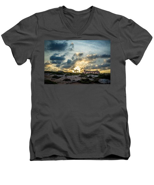 Dramatic Sunset Men's V-Neck T-Shirt