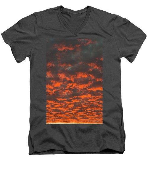 Dramatic Sunset Men's V-Neck T-Shirt by Hans Engbers