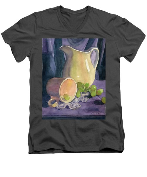 Drapes And Grapes Men's V-Neck T-Shirt