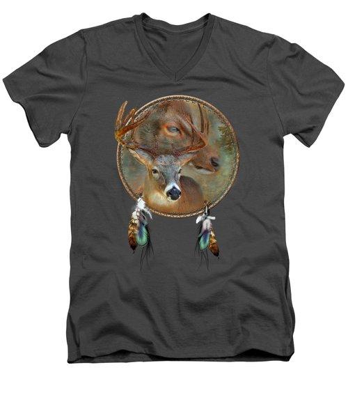Dream Catcher - Spirit Of The Deer Men's V-Neck T-Shirt