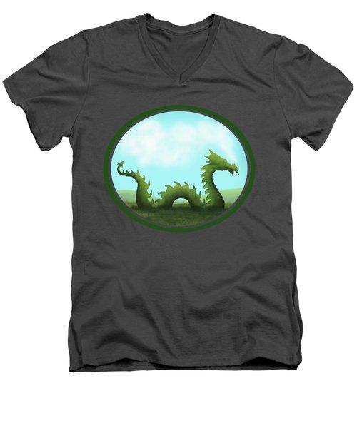 Dream Of A Dragon Men's V-Neck T-Shirt by Little Bunny Sunshine