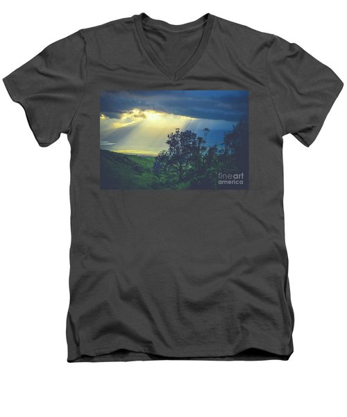 Dream Of Mortal Bliss Men's V-Neck T-Shirt by Sharon Mau
